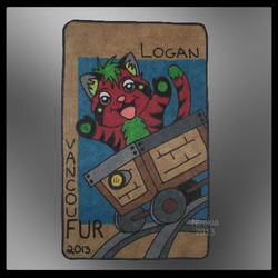 "VancouFUR 2013 - Chibi Badge ""Logan"""