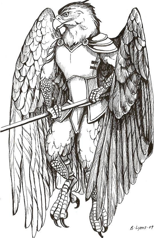 Thenyr in armor.