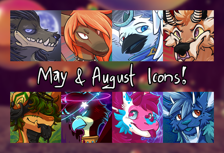 [gift+com] May & August Icons!
