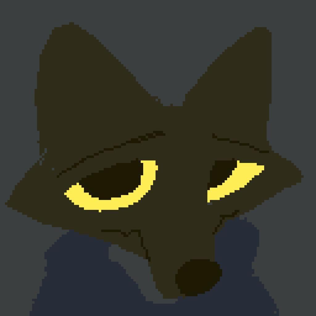 Pixel Art : Shy Wolf