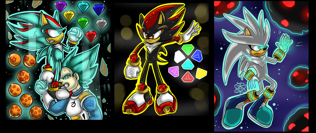 Shadow, Silver, And Vegeta +AVAILABLE AS TSHIRTS etc+