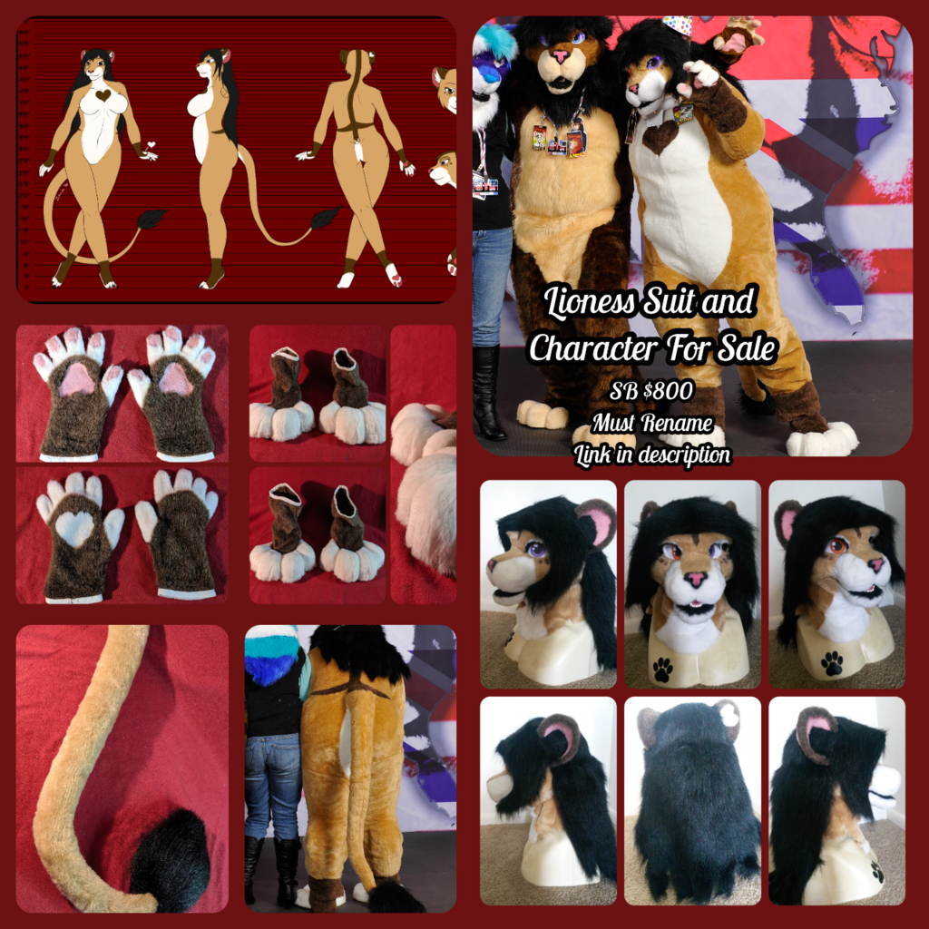 Most recent image: Lioness Suit + Character For Sale