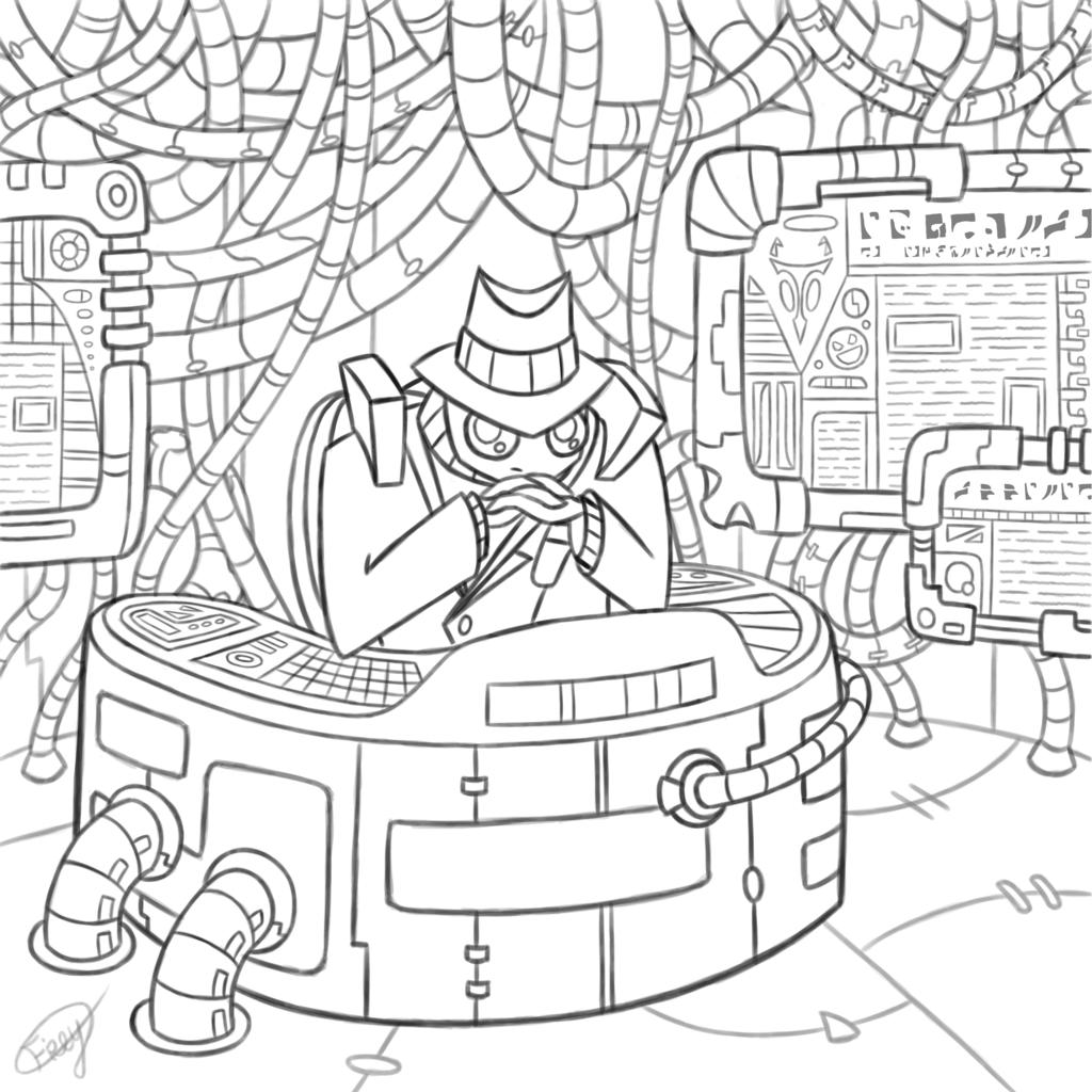 [Comm] Detective Skoodge in His Office