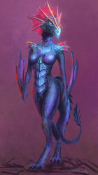 Female Humanoid Dragon