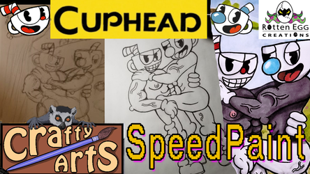 Cuphead Cringe Art CraftySpeedPaints With Music VIDEO