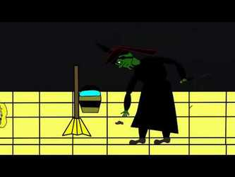 Dorothy melts the wicked witch of the west animation