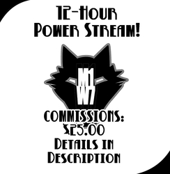 [STREAM TIME!] 12 Hour Commissions Stream!!!