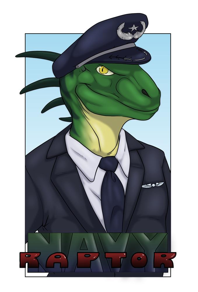 Navy ConBadge
