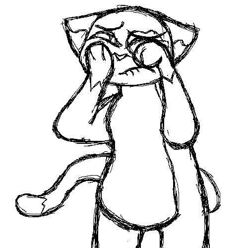 fat sad cat