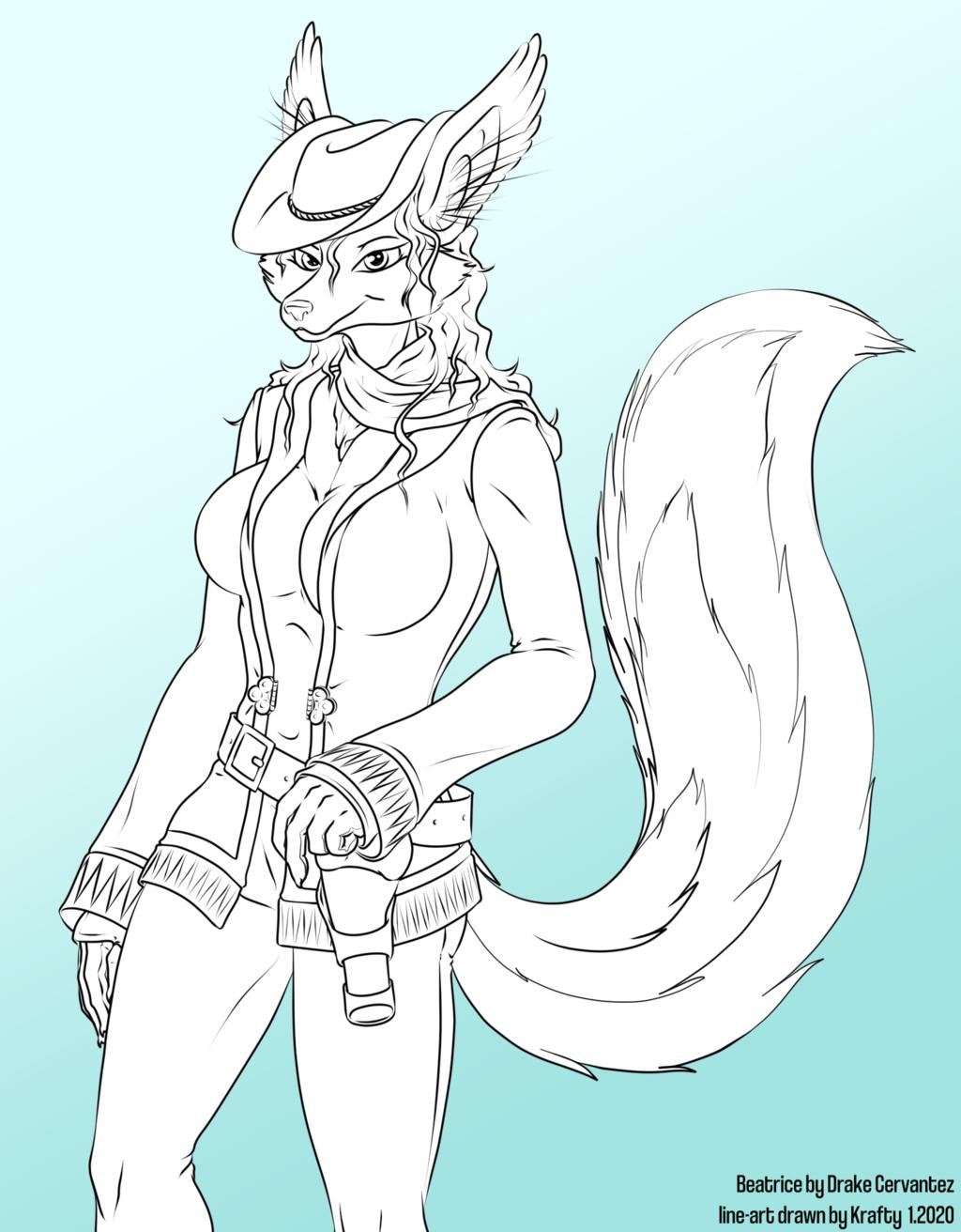 Beatrice the Gunslinger (anthro female fox)
