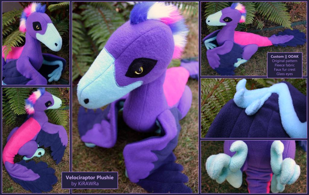Custom Velociraptor Plushie