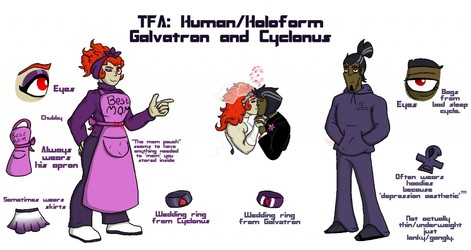 TFA: Human Galvatron and Cyclonus