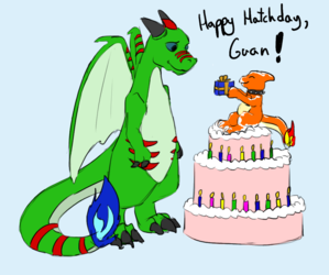 Happy Hatchday, Guan! - by congruentpartisan