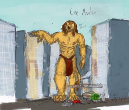 Leo Avatar Sketch