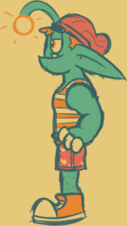 Goblin Dude in boxers