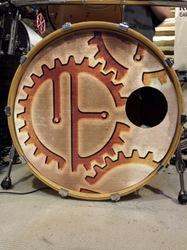 Steampunk Drum Head