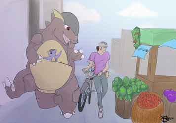 LwP Kangaskhan at the market