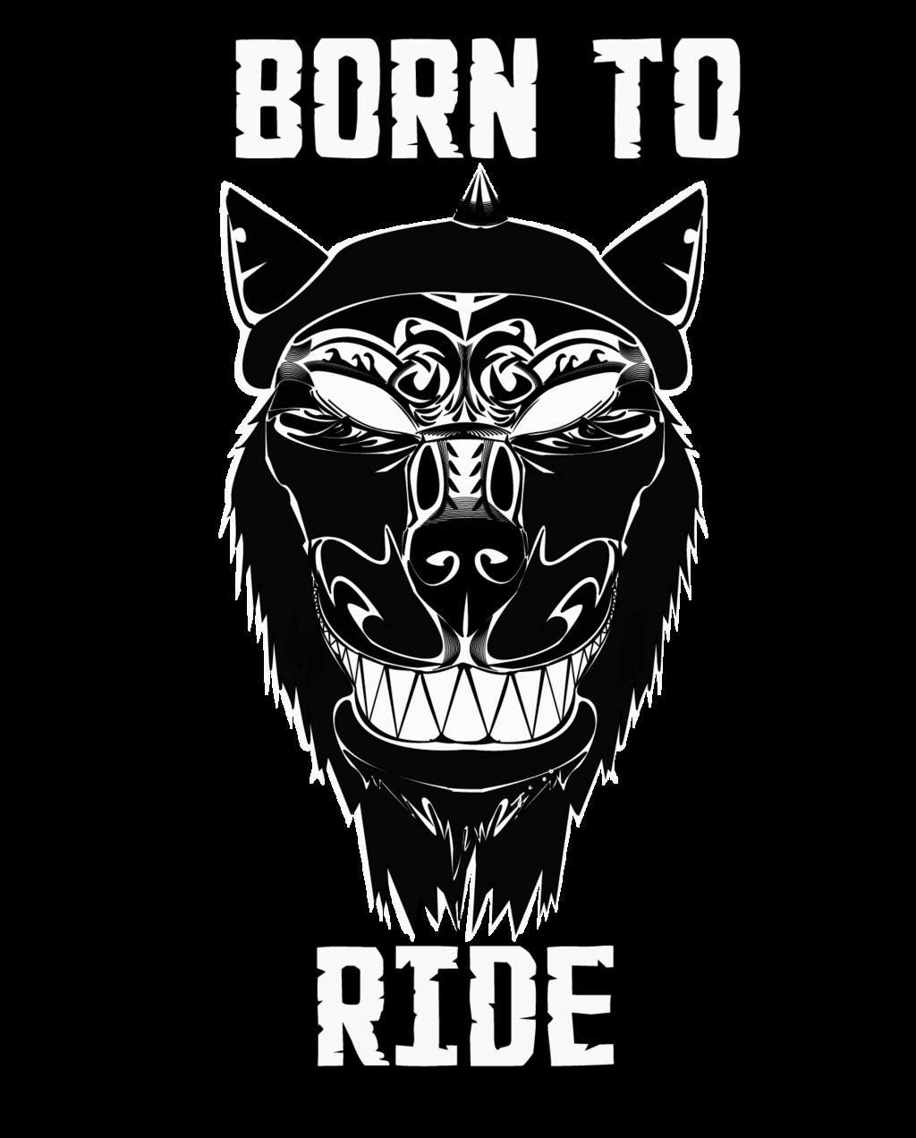 Biker Wolf T-shirt design