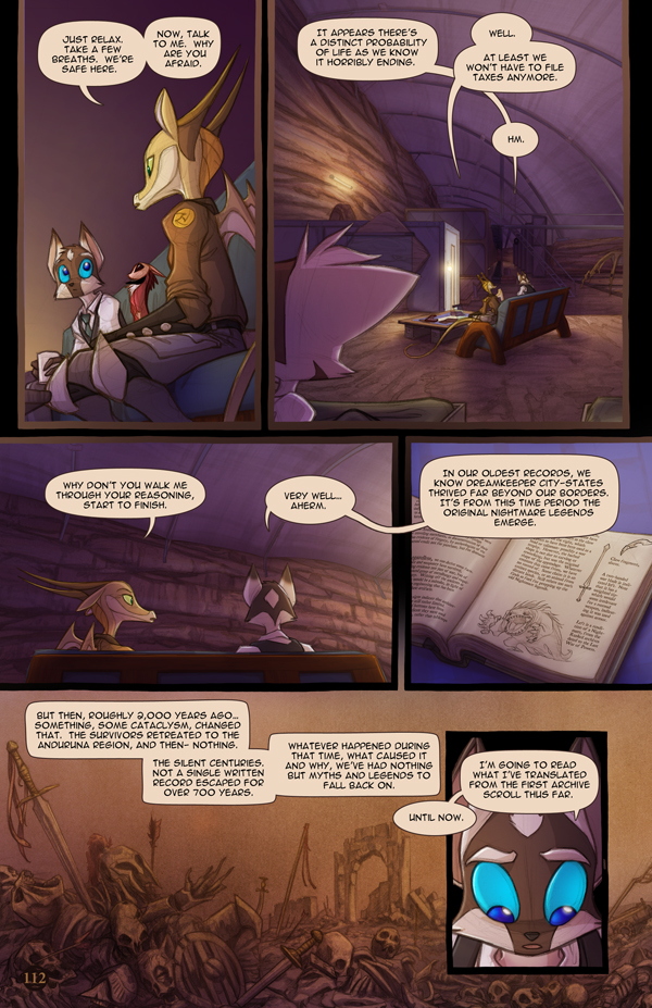 Most recent image: Dreamkeepers Saga page 430