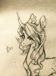 Playing with Kiri's Hair