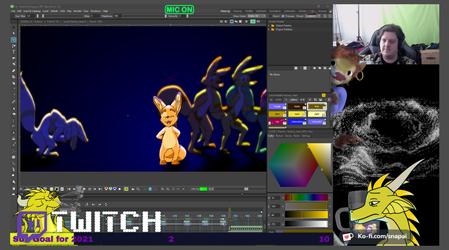 Twitch animation stream!