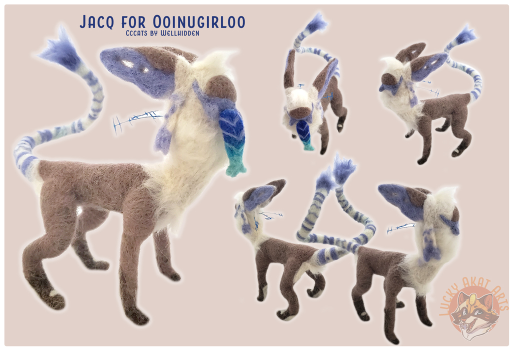Needle Felt: Cccat for Ooinugirloo