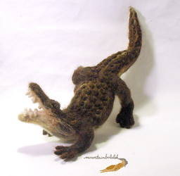 Needlefelted Alligator