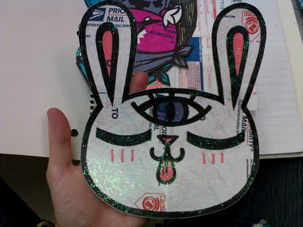 Third Eye Bunny sticker