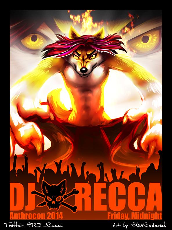 Most recent image: DJ Recca @ Anthrocon 2014 Midnight friday! + AC meme