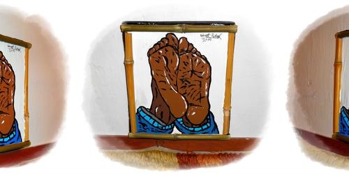 Beautiful feet painting IV