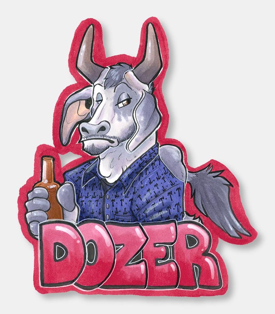 Dozer jumbo badge