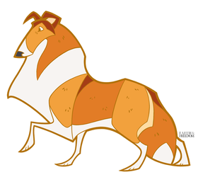 Collie Pin Design