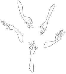 Taro - Hand poses sheet - ILLUS1