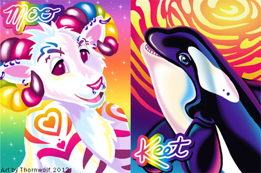 Lisa Frank Badges - Moo and Keet