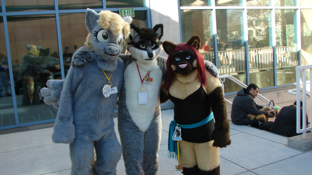 Topaz, Dan, and Derpy - FC 2014