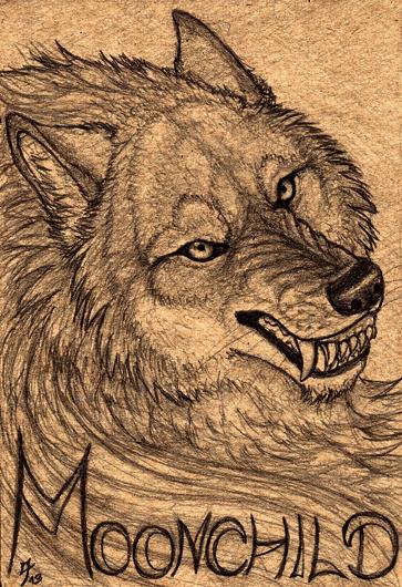 Moonchild badge (commissioned)