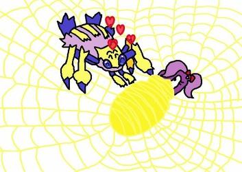 Fifi webbed up by Galvantula