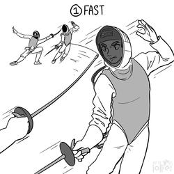 """Inktober 2016 - #1 """"Fast"""""""