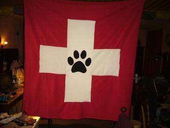 Swiss Furry Flag 3/3 ( Furry Art )