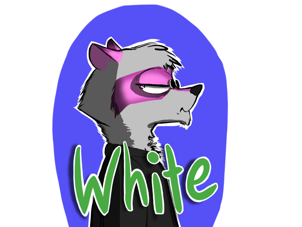 White Raccoon Badge Commission