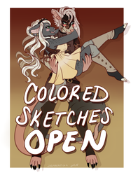 colored sketches open