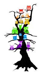 Rainbow Owl Tree