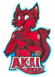 Akai Okami Badge (Commission)