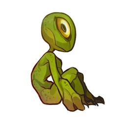 Teenytiny monster doodle