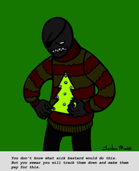 Spade Slick in a Christmas Sweater