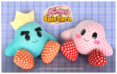 Patchwork Kirby's Epic Yarn Plush