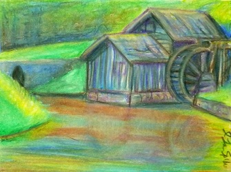 ACEO--Mabry Mill