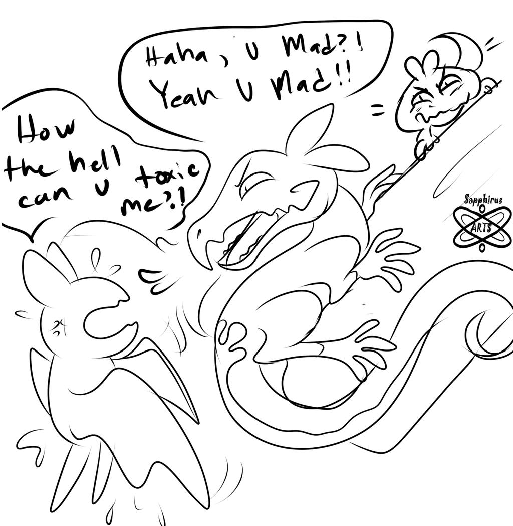 Salandit, the ultimate Pokemon Troll