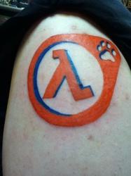 Half-Life Fur tattoo finished!