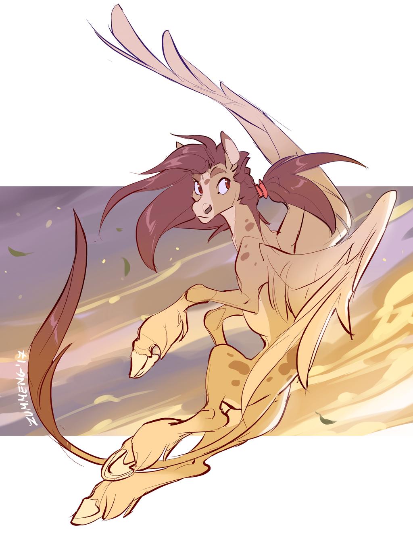 Little Pegasus Againts the Wind